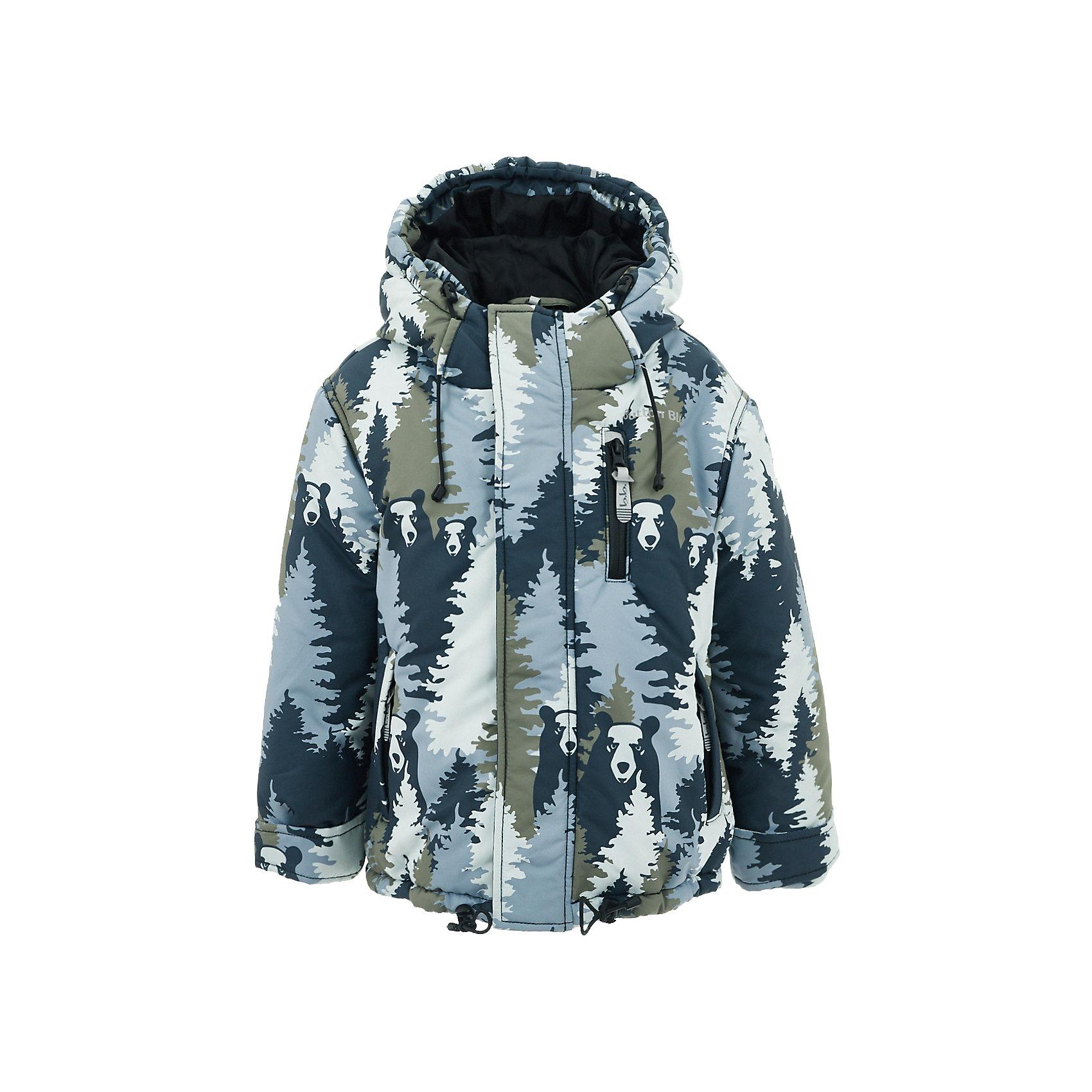 Куртка Button Blue для мальчикаВерхняя одежда<br>Характеристики товара:<br><br>• цвет: серый принт;<br>• состав: 100% полиэстер;<br>• подкладка: 100% полиэстер, флис;<br>• утеплитель: 100% полиэстер;<br>• сезон: зима;<br>• температурный режим: от 0 до -20С;<br>• застежка: молния с защитой подбородка;<br>• дополнительная защитная планка на липучках;<br>• сплошная подкладка из флиса;<br>• эластичные регулируемые манжеты на липучке;<br>• внутренний манжет с отверстием для большого пальца;<br>• водоотталкивающая ткань;<br>• внутренняя утяжка по низу изделия;<br>• карманы на молнии;<br>• страна бренда: Россия;<br>• страна изготовитель: Китай.<br><br>Яркая куртка из мембранной плащевки понравится всем любителям активных прогулок! Куртка сделана с соблюдением основных технологических особенностей производства спортивной одежды. Она не промокает, сохраняет тепло, трикотажная подкладка из мягкого флиса создает комфорт при длительной носке, утяжки защищают от продувания, светоотражающие элементы обеспечивают безопасность ребенка. Водоотталкивающая ткань с оригинальным рисунком делает куртку запоминающейся.<br><br>Куртку Button Blue (Баттон Блю) можно купить в нашем интернет-магазине.<br><br>Ширина мм: 356<br>Глубина мм: 10<br>Высота мм: 245<br>Вес г: 519<br>Цвет: серый<br>Возраст от месяцев: 144<br>Возраст до месяцев: 156<br>Пол: Мужской<br>Возраст: Детский<br>Размер: 158,98,104,110,116,122,128,134,140,146,152<br>SKU: 7039602