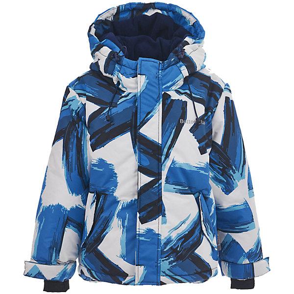 Куртка Button Blue для мальчикаВерхняя одежда<br>Характеристики товара:<br><br>• цвет: голубой принт;<br>• состав: 100% полиэстер;<br>• подкладка: 100% полиэстер, флис;<br>• утеплитель: 100% полиэстер;<br>• сезон: зима;<br>• температурный режим: от 0 до -20С;<br>• застежка: молния с защитой подбородка;<br>• дополнительная защитная планка на липучках;<br>• сплошная подкладка из флиса;<br>• эластичные регулируемые манжеты на липучке;<br>• внутренний манжет с отверстием для большого пальца;<br>• водоотталкивающая ткань;<br>• внутренняя утяжка по низу изделия;<br>• карманы на молнии;<br>• страна бренда: Россия;<br>• страна изготовитель: Китай.<br><br>Яркая куртка из мембранной плащевки понравится всем любителям активных прогулок! Куртка сделана с соблюдением основных технологических особенностей производства спортивной одежды. Она не промокает, сохраняет тепло, трикотажная подкладка из мягкого флиса создает комфорт при длительной носке, утяжки защищают от продувания, светоотражающие элементы обеспечивают безопасность ребенка. Водоотталкивающая ткань с оригинальным рисунком делает куртку запоминающейся.<br><br>Куртку Button Blue (Баттон Блю) можно купить в нашем интернет-магазине.<br><br>Ширина мм: 356<br>Глубина мм: 10<br>Высота мм: 245<br>Вес г: 519<br>Цвет: белый<br>Возраст от месяцев: 144<br>Возраст до месяцев: 156<br>Пол: Мужской<br>Возраст: Детский<br>Размер: 158,98,104,110,116,122,128,134,140,146,152<br>SKU: 7039614