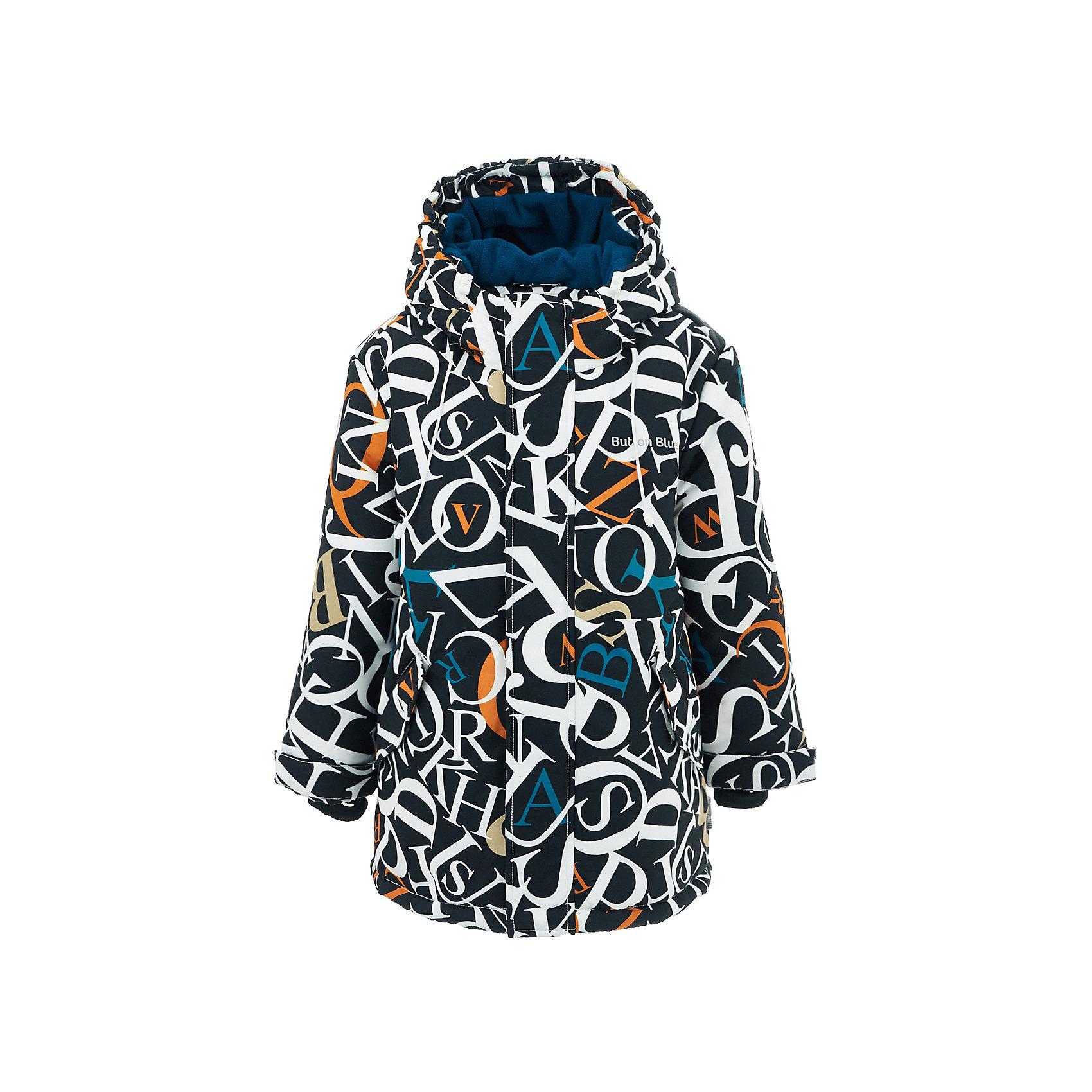 Куртка BUTTON BLUE для мальчикаВерхняя одежда<br>Куртка BUTTON BLUE для мальчика<br>Яркая куртка из мембранной плащевки понравится всем любителям активных прогулок! Куртка сделана с соблюдением основных технологических особенностей производства спортивной одежды. Она не промокает, сохраняет тепло, трикотажная подкладка из мягкого флиса создает комфорт при длительной носке, утяжки защищают от продувания, светоотражающие элементы обеспечивают безопасность ребенка. Водоотталкивающая ткань с оригинальным рисунком делает куртку запоминающейся. Если вы хотите купить детскую куртку в спортивном стиле, куртка от Button Blue - прекрасный вариант! Она обеспечит тепло, уют и свободу движений во время активного отдыха в холодные дни.<br>Состав:<br>тк. верха:                        100%полиэстер,                           подкл.:               100%полиэстер, утепл.:         100%полиэстер<br><br>Ширина мм: 356<br>Глубина мм: 10<br>Высота мм: 245<br>Вес г: 519<br>Цвет: черный<br>Возраст от месяцев: 144<br>Возраст до месяцев: 156<br>Пол: Мужской<br>Возраст: Детский<br>Размер: 158,98,104,110,116,122,128,134,140,146,152<br>SKU: 7039626