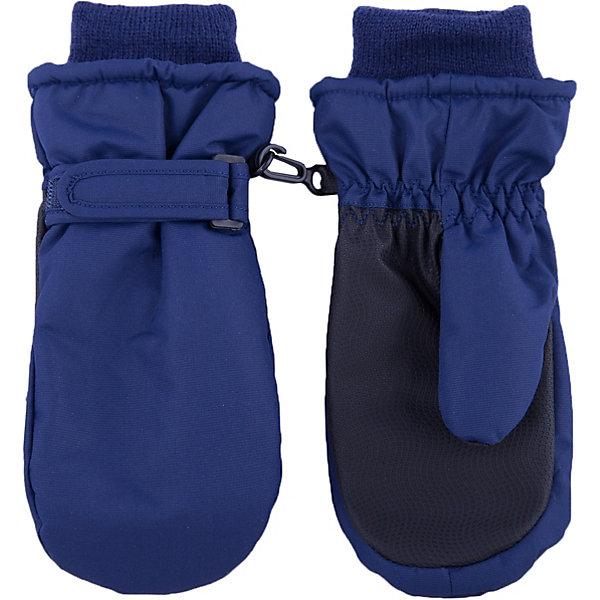 Варежки Button Blue для мальчикаПерчатки, варежки<br>Характеристики товара:<br><br>• цвет: синий;<br>• состав: 100% полиэстер;<br>• подкладка: 100% полиэстер;<br>• утеплитель: 100% полиэстер;;<br>• сезон: зима;<br>• температурный режим: от +5 до -20С;<br>• липучка-утяжка для защиты от ветра;<br>• усиленные вставки на ладно и больших пальцах;<br>• водонепроницаемые;<br>• мягкие трикотажные манжеты;<br>• страна бренда: Россия;<br>• страна изготовитель: Китай.<br><br>Непромокаемая плащевка, утяжка от продувания, протектор для прочности и износостойкости изделия позволят гулять в любую погоду, гарантируя тепло, уют и комфорт.<br><br>Варежки Button Blue (Баттон Блю) можно купить в нашем интернет-магазине.<br>Ширина мм: 162; Глубина мм: 171; Высота мм: 55; Вес г: 119; Цвет: темно-синий; Возраст от месяцев: 84; Возраст до месяцев: 96; Пол: Мужской; Возраст: Детский; Размер: 18,12,14,16; SKU: 7039729;