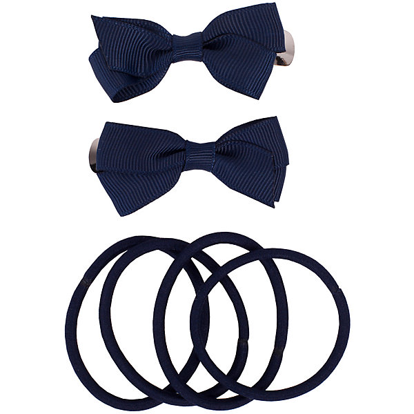 Комплект заколок и резинок, 6 шт. Button Blue для девочкиАксессуары<br>Характеристики товара:<br><br>• цвет: синий;<br>• материал: сталь, полиэстер, эластан;<br>• в комплекте: 2 заколки, 6 резинок;<br>• заколки в виде бантиков;<br>• 6 эластичный резинок;<br>• страна бренда: Россия;<br>• страна изготовитель: Китай.<br><br>Комплект заколок и резинок Button Blue (Баттон Блю) можно купить в нашем интернет-магазине.<br>Ширина мм: 170; Глубина мм: 157; Высота мм: 67; Вес г: 117; Цвет: синий; Возраст от месяцев: 60; Возраст до месяцев: 168; Пол: Женский; Возраст: Детский; Размер: one size; SKU: 7039736;