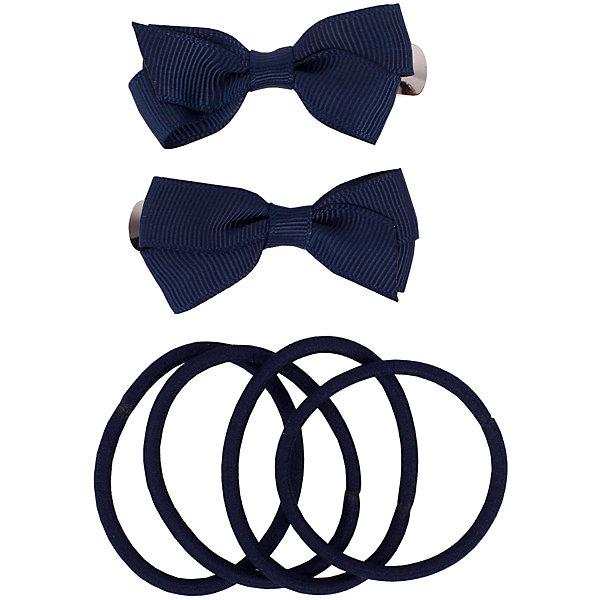 Комплект заколок и резинок, 6 шт. Button Blue для девочки
