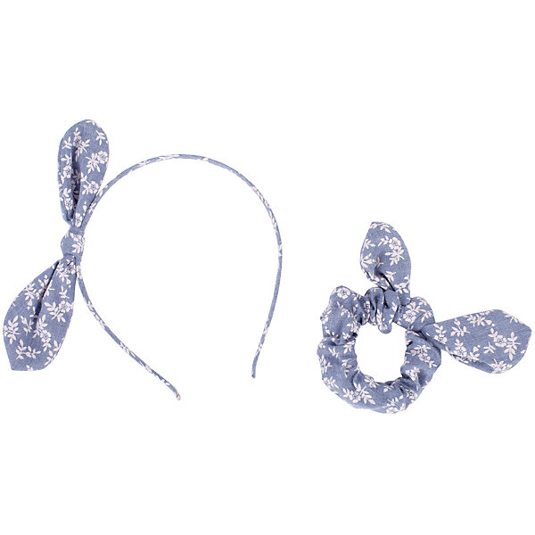 Комплект: ободок и резинка Button Blue для девочки