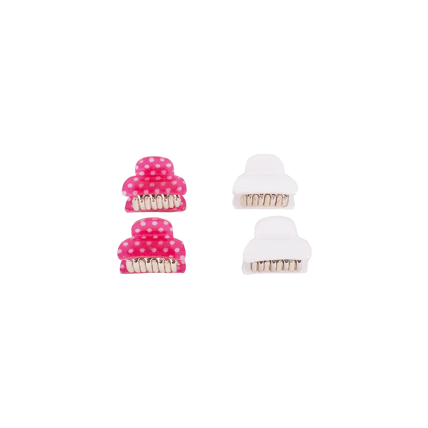 Комплект заколок, 4 шт. Button Blue для девочкиАксессуары<br>Характеристики товара:<br><br>• цвет: белый/розовый;<br>• материал: акрил;<br>• в комплекте: 2 заколки-крабик;<br>• 2 розовый в горох, 2 белых;<br>• страна бренда: Россия;<br>• страна изготовитель: Китай.<br><br>Комплект заколок-крабиков, 2 шт. Button Blue (Баттон Блю) можно купить в нашем интернет-магазине.<br><br>Ширина мм: 170<br>Глубина мм: 157<br>Высота мм: 67<br>Вес г: 117<br>Цвет: голубой<br>Возраст от месяцев: 60<br>Возраст до месяцев: 168<br>Пол: Женский<br>Возраст: Детский<br>Размер: one size<br>SKU: 7039760