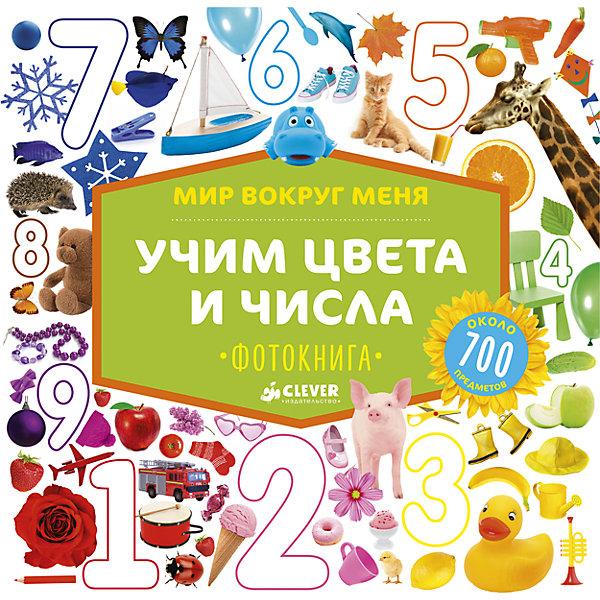 Фотокнига Учим цвета и числа CLEVER, Мир вокруг меняПособия для обучения счёту<br>Характеристики товара:<br><br>• ISBN: 978-5-906929-10-5;<br>• возраст: от 1 года;<br>• формат: 84х108/8;<br>• бумага: картон;<br>• тип обложки: 7Бц - твердая, (целлофанированная или лакированная);<br>• оформление: пухлая обложка;<br>• иллюстрации: цветные;<br>• серия: Мир вокруг меня;<br>• издательство: Клевер Медиа Групп, 2017 г.;<br>• редактор: Измайлова Елена;<br>• количество страниц: 22;<br>• размеры: 28х27,5х1,9 см;<br>• масса: 780 г.<br><br>Большая красочная книга с красивыми фотографиями и крупным шрифтом подходит для самых маленьких читателей. На страницах фотокниги есть более 700 предметов для изучения. Малыши выучат их названия, познакомятся с оттенками цветов, освоят первый счёт и узнают виды геометрических фигур. Задания-находилки надолго увлекут мальчиков и девочек, ведь это так интересно.<br><br>Книга предназначена для развивающих занятий с самого раннего возраста, помогает развивать речь, память, логику, внимание. Плотные картонные страницы легко переворачиваются и безопасны для ребенка. <br><br>Фотокнигу «Учим цвета и числа», Измайлова Е., Клевер Медиа Групп, можно купить в нашем интернет-магазине.<br>Ширина мм: 270; Глубина мм: 270; Высота мм: 12; Вес г: 802; Возраст от месяцев: 12; Возраст до месяцев: 36; Пол: Унисекс; Возраст: Детский; SKU: 7039980;