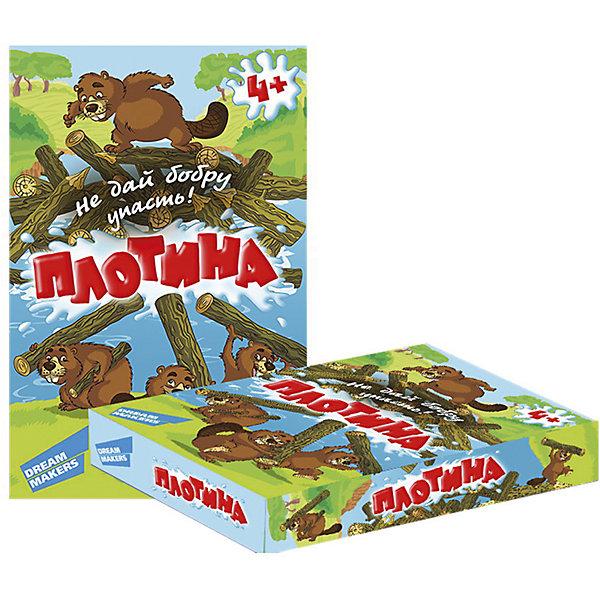Настольная игра Плотина Dream makersНастольные игры для всей семьи<br>Характеристики товара:<br><br>• возраст: от 4 лет;<br>• в комплекте: 42 деревянных бревнышка, фигурка бобра, карточка реки, 2 фигурки скал, пластиковая опора, 2 палочки для игры;<br>• количество игроков: 1-4;<br>• время игры: 20 мин.;<br>• состав игрушки: дерево, картон, бумага;<br>• вес: 140 гр.;<br>• размер упаковки: 19х12х4 см;<br>• упаковка: картонная коробка;<br>• размер бобра: 3.8x1.7 см;<br>• размер бревнышка: 3.5x0.7 см.<br><br>«Плотина» - это веселая детская игра для развития ловкости и координации. Из деревянных брёвнышек игроки строят плотину, на которую ставится фигурка бобра. Задача игроков, с помощью специальных палочек выталкивать брёвна так, чтобы бобёр не упал. Тот игрок, который окажется самым ловким и не уронит бобра, станет победителем.<br><br>Детскую настольную игру «Плотина» можно купить в нашем интернет-магазине.<br>Ширина мм: 190; Глубина мм: 120; Высота мм: 35; Вес г: 140; Возраст от месяцев: 48; Возраст до месяцев: 2147483647; Пол: Унисекс; Возраст: Детский; SKU: 7040260;