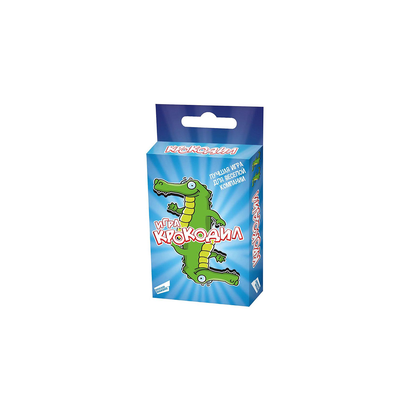 Настольная игра Крокодил Dream makersНастольные игры для всей семьи<br>«Крокодил» - это лучший способ весело провести время. Она не имеет ограничений по возрасту – в нее охотно играют, как дети, так и взрослые. Задача игроков - при помощи пантомимы объяснять значение слов. Вас ожидают уникальные задания разного уровня сложности. Игра для детей от 10 лет, рассчитанная на 2 и более игроков, развивает навыки общения. Время игры 30 минут. Комплектность: игровые карточки 30 шт., правила игры.<br><br>Ширина мм: 88<br>Глубина мм: 59<br>Высота мм: 12<br>Вес г: 80<br>Возраст от месяцев: 120<br>Возраст до месяцев: 2147483647<br>Пол: Унисекс<br>Возраст: Детский<br>SKU: 7040264