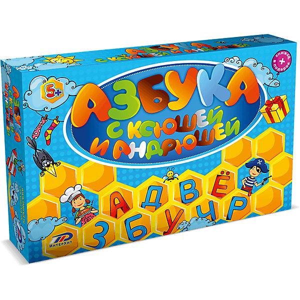 Настольная игра Азбука с Ксюшей и Андрюшей ИнтерХитАзбуки<br>Азбука и грамматика, существительные и глаголы, названия стран и городов, животных и растений, музыка и живопись и много-много полезной информации содержится в 800 вопросах этой игры.Пройдите своей фишкой первым от Старта до Финиша по игровой дорожке с 40 картинками Азбуки, правильно отвечая по очереди на вопросы карточек. Чтобы выиграть, очень важно развить хорошую зрительной памятью, ведь много ответов расположено на соответствующих картинках игрового поля и на фасадах вопросников.В коробке:Игровое поле - 1Книга - 1Вопросники - 40Карточки  Зрительная память - 2Фишки - 5Карточка Победитель ИнтерХит - 1Бегунок для фиксации номера вопроса - 2Правила игры - 1<br><br>Ширина мм: 340<br>Глубина мм: 50<br>Высота мм: 250<br>Вес г: 960<br>Возраст от месяцев: 60<br>Возраст до месяцев: 2147483647<br>Пол: Унисекс<br>Возраст: Детский<br>SKU: 7041196