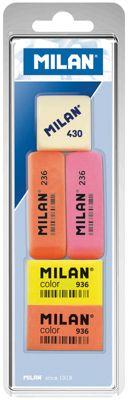 Набор ластиков 236 , Color 936 и 430 , 5 шт Milan