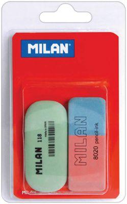 Набор ластиков 8020 и 118 2 шт Milan