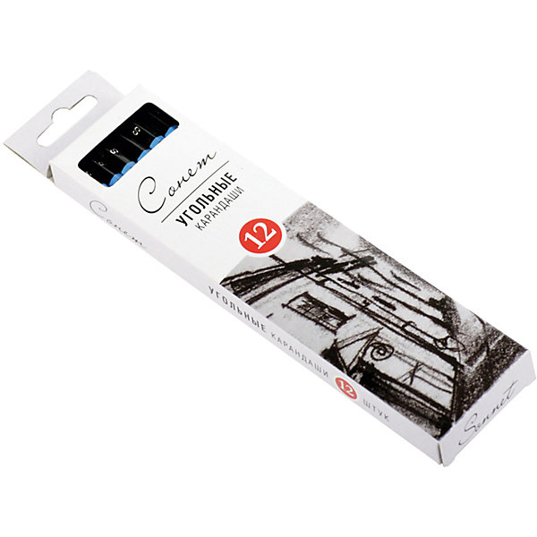 Угольные карандаши мягкие 12 шт Сонет