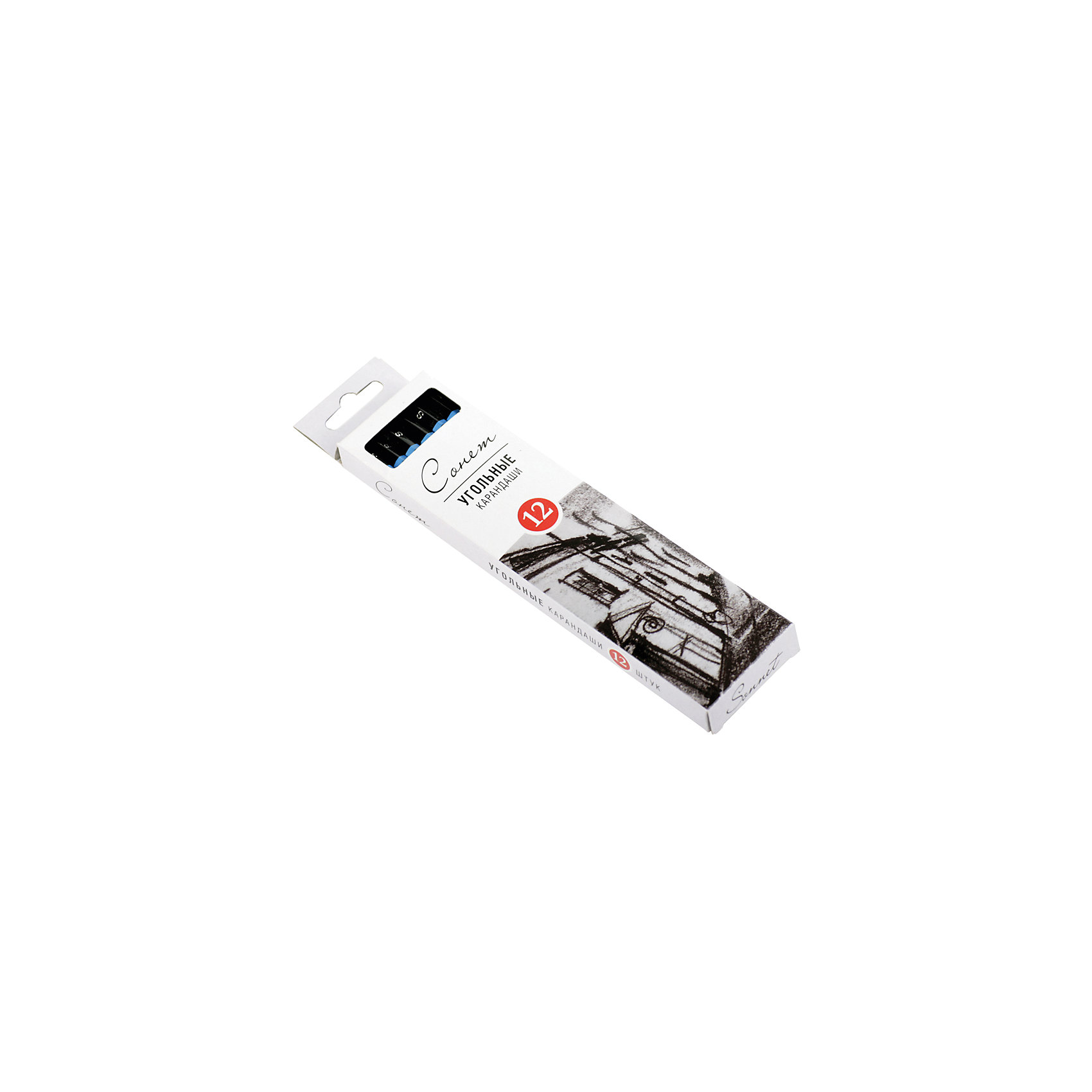 Угольные карандаши мягкие 12 шт СонетПастель Уголь<br>Тип: угольные карандаши<br>Количество в упаковке: 12<br>Форма сечения: круглая<br>Размер сечения: 6/7<br>Заточено: нет<br>Длина: 170 <br>Упаковка ед. товара: картонная коробка<br>Угольные карандаши «СОНЕТ» предназначены для создания рисунков, набросков, эскизов и т.п. Удобны для проработки контуров и мелких деталей. Стержень изготовлен из натурального прессованного древесного угля, который легко ложится на бумагу, картон, крафт. В ассортименте представлены три степени твердости: твердый, средний и мягкий.<br><br>Ширина мм: 180<br>Глубина мм: 45<br>Высота мм: 15<br>Вес г: 88<br>Возраст от месяцев: 84<br>Возраст до месяцев: 2147483647<br>Пол: Унисекс<br>Возраст: Детский<br>SKU: 7044171