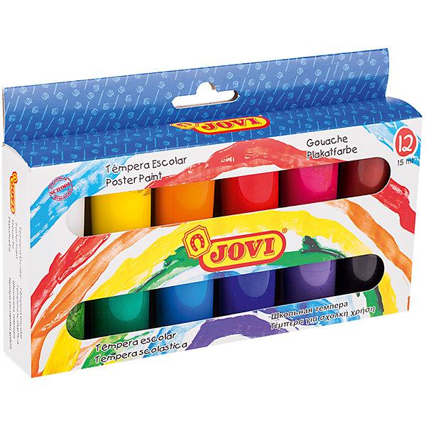 Гуашь 12 цветов 15мл JOVIРисование и лепка<br>Характеристики:<br><br>• ёмкость банки:15мл.;<br>• количество: 12шт.; <br>• упаковка: коробка;<br>• размер упаковки: 18х16х6см.;<br>• вес упаковки: 200г.;<br>• для детей в возрасте: от 7лет.;<br>• страна производитель: Испания.<br><br>Набор красок «Гуашь» бренда «Jovi (Джови)» станет отличным приобретением для школьников. Он создан из качественных, экологически чистых материалов, что очень важно для детских товаров.<br><br> Набор отлично подойдёт для ребятишек, любящих рисовать. В него входят двенадцать разноцветных баночек с красками. Цвета очень яркие и насыщенные. Без лишних усилий создают плотный яркий слой на любой поверхности. Хорошо смешиваются и разводятся водой. Упаковкой служит коробка с красивым рисунком.<br><br>Использование набора поможет детям развивать цветовое восприятие, мелкую моторику, чувство самовыражения, фантазию и аккуратность.<br> <br>Краски «Гуашь» «Jovi (Джови)» можно купить в нашем интернет-магазине.<br>Ширина мм: 170; Глубина мм: 110; Высота мм: 40; Вес г: 325; Возраст от месяцев: 36; Возраст до месяцев: 2147483647; Пол: Унисекс; Возраст: Детский; SKU: 7044196;