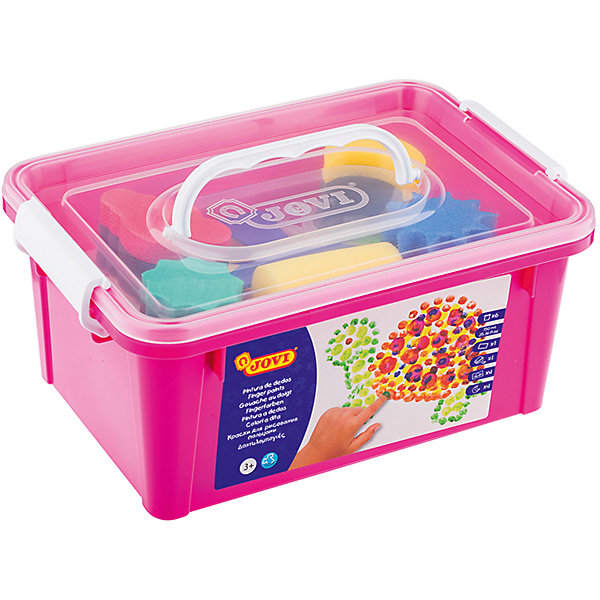 Краски пальчиковые 6 цветов 750г JOVI, с аксессуарамиПальчиковые краски<br>Тип: краски пальчиковые<br>Количество цветов: 6 <br>Емкость: баночка<br>Объем емкости: 125<br>Объем общий: 750<br>Флуоресцентный эффект: нет<br>Перламутровый эффект: нет<br>Эффект металлик: нет<br>Упаковка ед. товара: пластиковый контейнер<br>Наличие европодвеса: нет<br>Большой набор для рисования руками в пластиковом чемоданчике. Пальчиковые краски и аксессуары для рисования специально подобраны для первых опытов рисования с учетом возможностей ребенка раннего возраста. Яркие цвета красок, специальные трафареты, губки различных форм и валик увлекут ребенка необычным способом рисования  и превратят занятия в веселую игру. Пальчиковые краски очень густой желеобразной консистенции. Не вытекают из баночки, позволяют набирать небольшое количество краски и экономично ее использовать. Не требуется разводить водой. Можно рисовать руками или с помощью специальных губок и валиков JOVI. Гипоаллергенны, не содержат глютен. Состав на водной основе, безопасные красители. Легко смываются с кожи теплой водой и отстирываются с большинства видов тканей. Шесть основных ярких чистых цветов (белый, желтый, красный, зеленый, синий, коричневый) красок для раннего развития малыша в баночках по 125 мл. В набор также входят четыре трафарета для пальчиковых красок, четыре губки различных форм, широкий валик и клеенка. Страна производства Испания.<br>Ширина мм: 220; Глубина мм: 170; Высота мм: 90; Вес г: 1440; Возраст от месяцев: 24; Возраст до месяцев: 2147483647; Пол: Унисекс; Возраст: Детский; SKU: 7044199;
