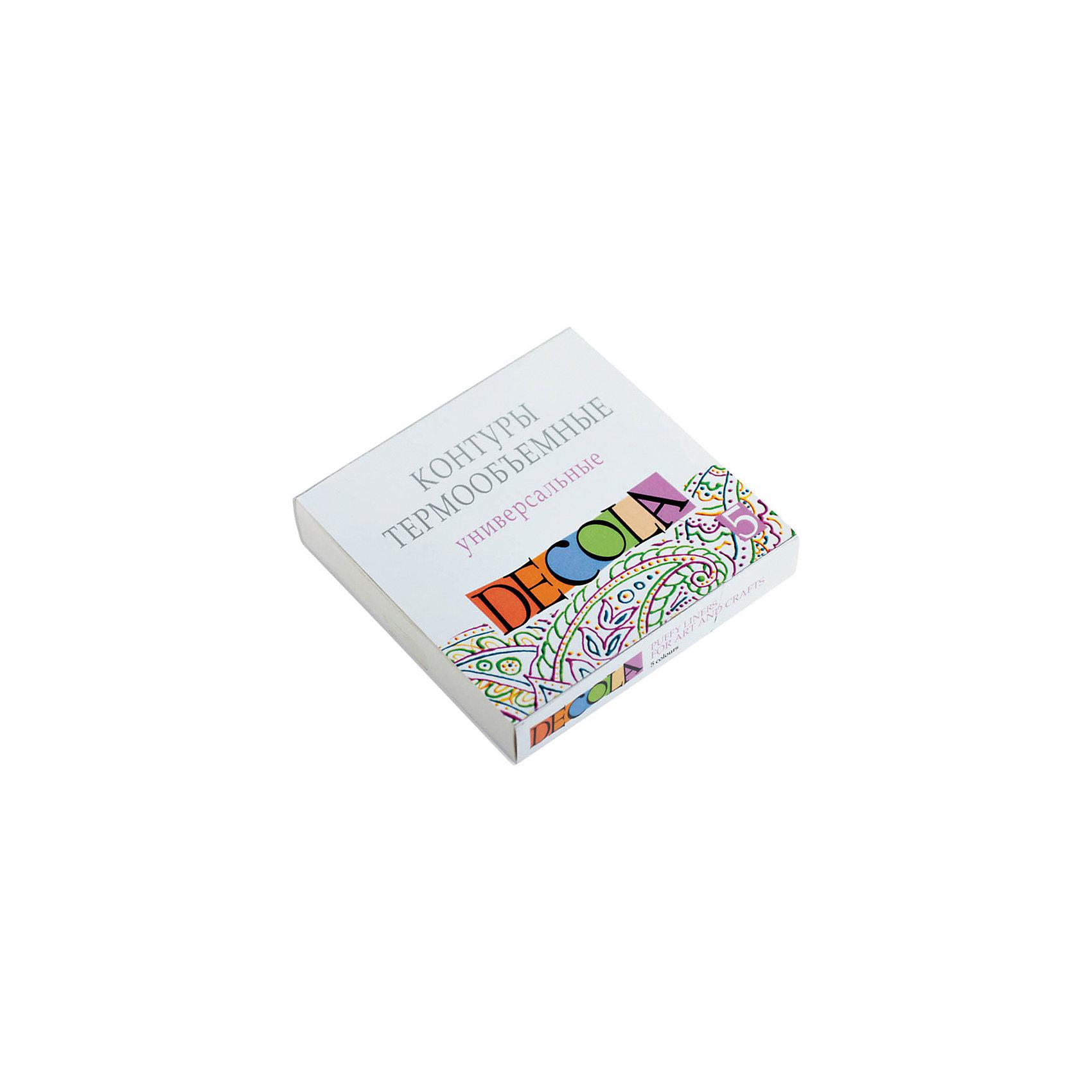Контуры объемные Пуффи 5 цетов 9мл,DecolaКраски и кисточки<br>Тип: контуры<br>Количество цветов: 5<br>Емкость: туба<br>Объем емкости: 9<br>Объем общий: 45<br>Перламутровый эффект: нет<br>Флуоресцентный эффект: нет<br>Блестки/глиттер: нет<br>Упаковка ед. товара: картонная коробка<br>Наличие европодвеса: нет<br>Предназначены для создания объемных рисунков на различных поверхностях: ткани, холсте, дереве, керамике, фарфоре, коже. Для достижения объемного эффекта требуется термообработка<br><br>Ширина мм: 100<br>Глубина мм: 100<br>Высота мм: 20<br>Вес г: 38<br>Возраст от месяцев: 84<br>Возраст до месяцев: 2147483647<br>Пол: Унисекс<br>Возраст: Детский<br>SKU: 7044203