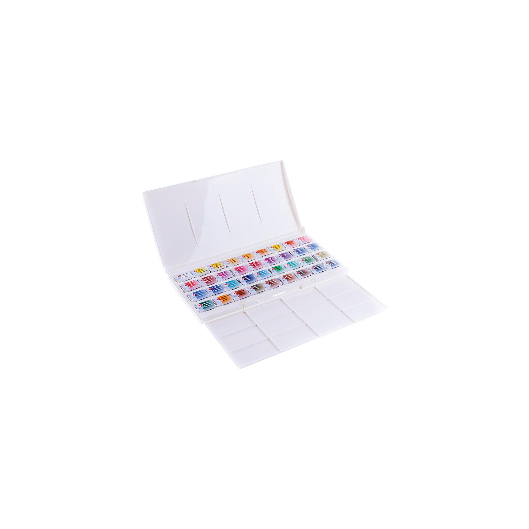 Акварель художественная 36 цветов Белые ночи, кюветы, палитра от myToys