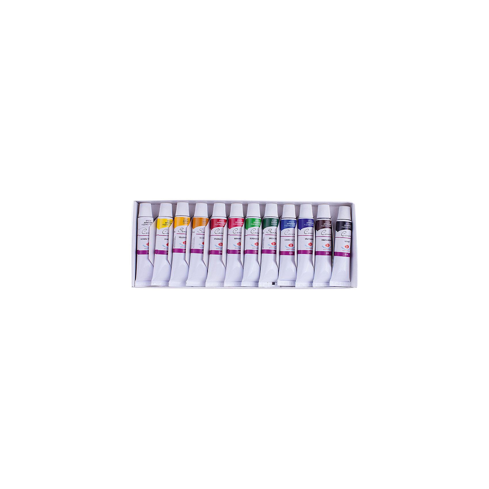 Краски акриловые 12цветов 10мл/туба Сонет от myToys