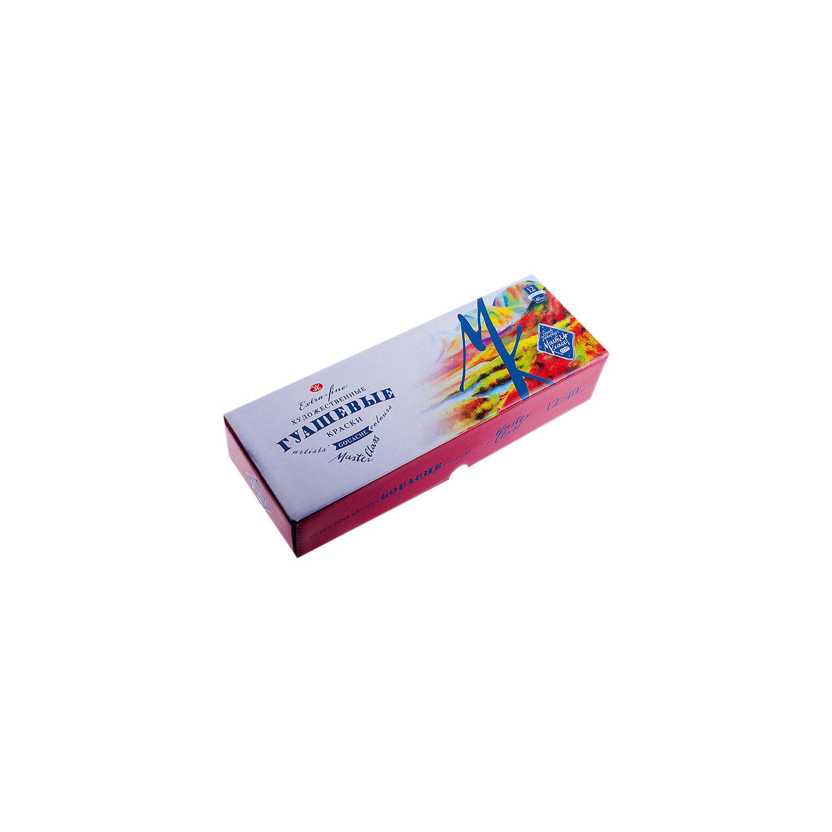 Гуашь 12 цветов 40мл Мастер-КлассРисование и лепка<br>Тип: гуашь<br>Количество цветов: 12 <br>Объем общий: 480<br>Объем емкости: 40<br>Емкость: баночка<br>Упаковка ед. товара: картонная коробка<br>Наличие европодвеса: нет<br>Набор гуашевых красок, 12 цветов.<br><br>Ширина мм: 260<br>Глубина мм: 110<br>Высота мм: 30<br>Вес г: 975<br>Возраст от месяцев: 84<br>Возраст до месяцев: 2147483647<br>Пол: Унисекс<br>Возраст: Детский<br>SKU: 7044226