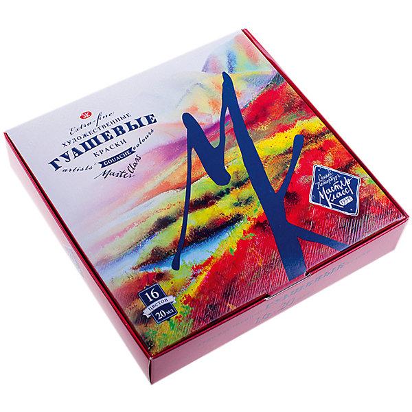 Гуашь 6 цветов 20мл Мастер-КлассРисование и лепка<br>Тип: гуашь<br>Количество цветов: 16 <br>Объем общий: 320<br>Объем емкости: 20<br>Емкость: баночка<br>Упаковка ед. товара: картонная коробка<br>Наличие европодвеса: нет<br>Набор гуашевых красок, 16 цветов.<br><br>Ширина мм: 160<br>Глубина мм: 155<br>Высота мм: 40<br>Вес г: 663<br>Возраст от месяцев: 84<br>Возраст до месяцев: 2147483647<br>Пол: Унисекс<br>Возраст: Детский<br>SKU: 7044227