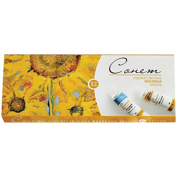 Краски масляные 12 цветов Сонет, 10мл/тубаХудожественные краски<br>Характеристики товара:<br><br>• возраст: от 7 лет;<br>• тип: масляные краски;<br>• количество цветов: 12;<br>• объем емкости: 10 мл.;<br>• упаковка: картонная коробка;<br>• размер упаковки: 23х9х2 см.;<br>• вес: 267 гр.;<br>• страна обладатель бренда: Россия.<br><br>Масляные художественные краски серии «Сонет» разработаны по традиционным технологиям с использованием современных материалов и предназначены для живописи.<br><br>Краски отличаются яркостью и чистотой цвета, пастозностью и высокой светостойкостью.<br><br>Палитра масляных художественных красок включает в себя наиболее популярные цвета, необходимые для начинающих художников.<br><br>Большинство красок имеют одинаковое время высыхания, что облегчает работу с ними.<br><br>Набор масляных красок «Сонет» можно купить в нашем интернет-магазине.<br><br>Ширина мм: 230<br>Глубина мм: 90<br>Высота мм: 20<br>Вес г: 267<br>Возраст от месяцев: 84<br>Возраст до месяцев: 2147483647<br>Пол: Унисекс<br>Возраст: Детский<br>SKU: 7044231