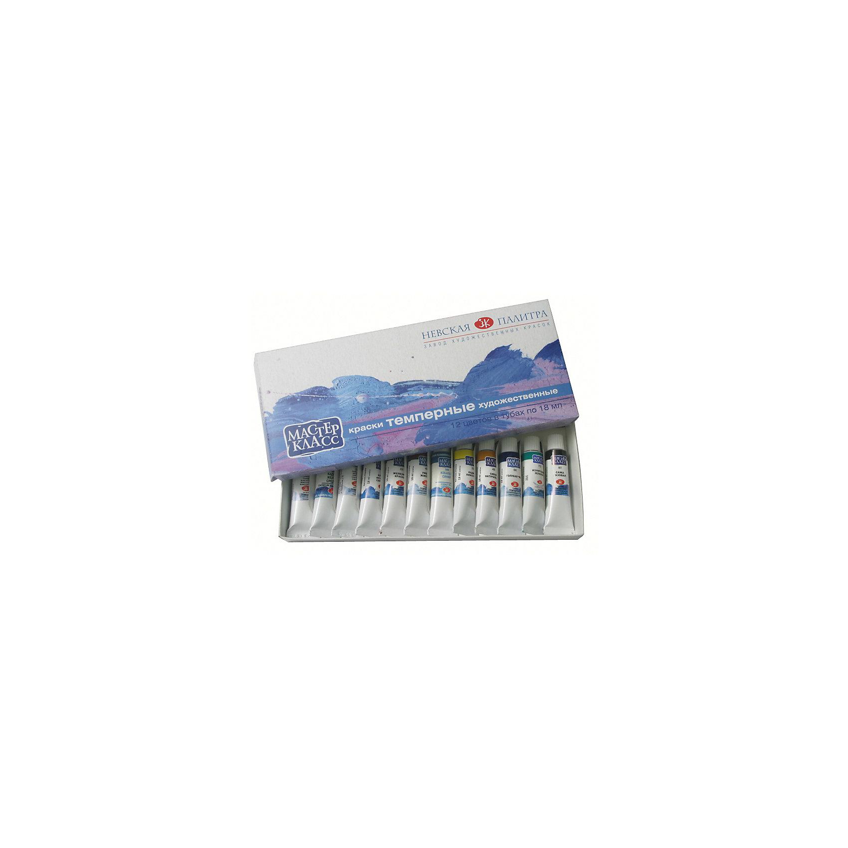 Краски темперные 12 цветов Мастер-Класс, 18мл/тубаХудожественные краски<br>Тип: темпера<br>Количество цветов: 12 <br>Емкость: туба<br>Объем общий: 216<br>Объем емкости: 18<br>Упаковка ед. товара: картонная коробка<br>Наличие европодвеса: нет<br><br>Ширина мм: 255<br>Глубина мм: 110<br>Высота мм: 30<br>Вес г: 405<br>Возраст от месяцев: 84<br>Возраст до месяцев: 2147483647<br>Пол: Унисекс<br>Возраст: Детский<br>SKU: 7044232