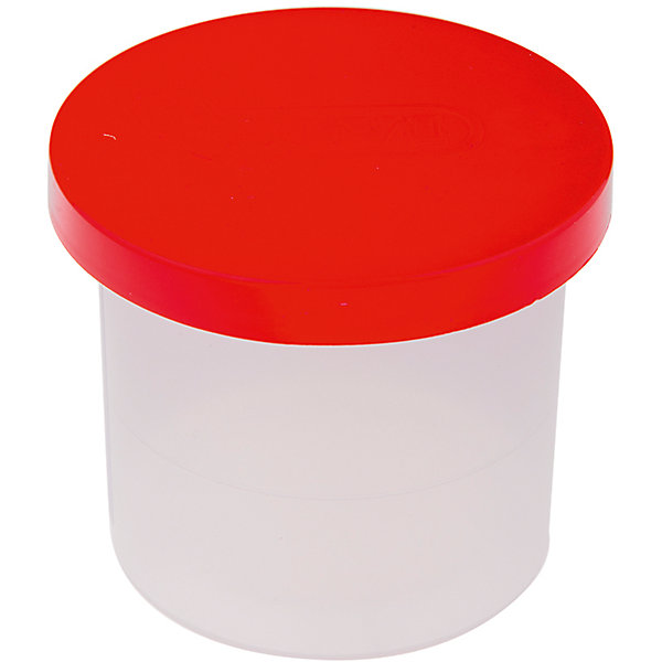 Стакан-непроливайка JOVIРисование и лепка<br>Количество отделений: 1<br>Материал: полипропилен<br>Объем: полный - 150*2мл, до уровня - 50*2мл<br>Наличие крышки: есть<br>Цвет крышки: красный<br>Цвет стакана: прозрачный белый<br>Упаковка ед. товара: отсутствует<br>Пластиковая банка-непроливайка для рисования. Специальная форма крышки в виде воронки не даст воде вылиться из банки, даже при ее опрокидывании. Второй дополнительной крышкой удобно закрыть мокрую банку после использования и положить в школьную сумку. Упаковка: 30 банок в коробке.  Страна производства Испания.<br><br>Ширина мм: 70<br>Глубина мм: 70<br>Высота мм: 63<br>Вес г: 2<br>Возраст от месяцев: 36<br>Возраст до месяцев: 2147483647<br>Пол: Унисекс<br>Возраст: Детский<br>SKU: 7044239