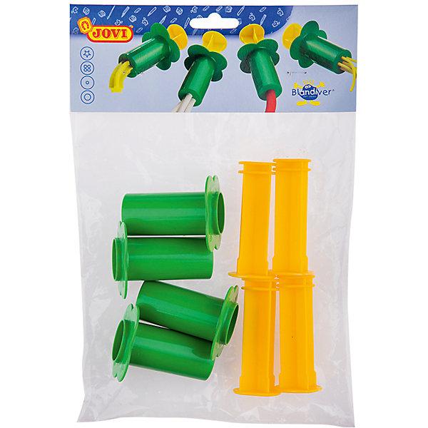 Шприцы для моделирования 4 шт JOVIАксессуары для творчества<br>Тип: инструменты для лепки<br>Материал: полипропилен<br>Количество предметов: 4<br>Упаковка ед. товара: пакет с европодвесом<br>Набор из четырех шприцов-экструдеров для лепки из мягкой пасты. Принцип действия как у обычного кондитерского шприца. С его помощью ребенок может придать куску мягкой пасты определенную форму, в зависимости от формы отверстия экструдера. Эти необычные инструменты поразят воображение малыша и превратят лепку в веселую, увлекательную игру. Пластмассовые шприцы-прессы выдавливают гладкие и фигурные колбаски, тонкие и толстые макароны из мягкой пасты для лепки. Прочная пластмасса и крупные ручки безопасны и удобны для маленьких детей. Страна производства Испания.<br>Ширина мм: 265; Глубина мм: 190; Высота мм: 50; Вес г: 92; Возраст от месяцев: 36; Возраст до месяцев: 2147483647; Пол: Унисекс; Возраст: Детский; SKU: 7044263;