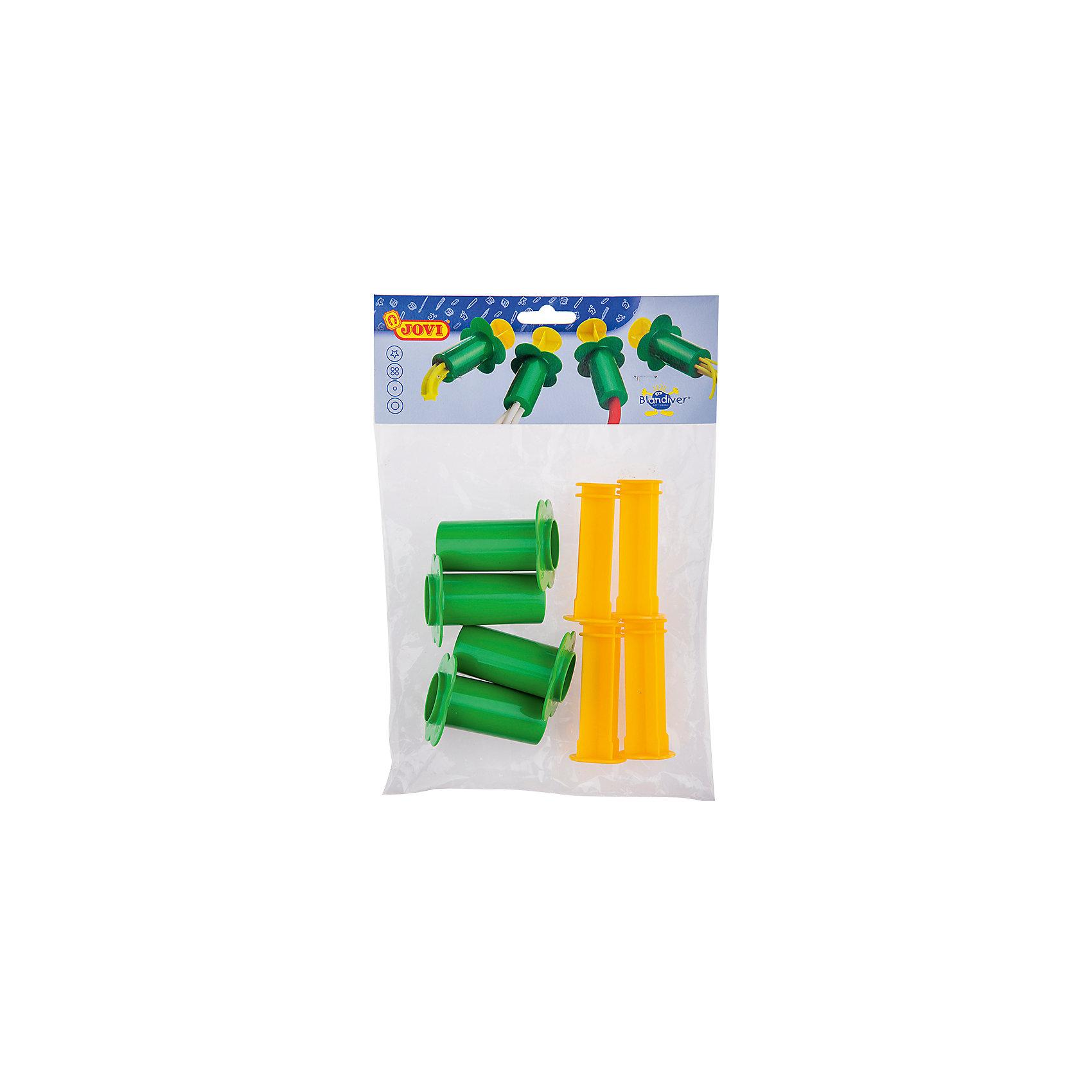 Шприцы для моделирования 4 шт JOVIАксессуары для творчества<br>Тип: инструменты для лепки<br>Материал: полипропилен<br>Количество предметов: 4<br>Упаковка ед. товара: пакет с европодвесом<br>Набор из четырех шприцов-экструдеров для лепки из мягкой пасты. Принцип действия как у обычного кондитерского шприца. С его помощью ребенок может придать куску мягкой пасты определенную форму, в зависимости от формы отверстия экструдера. Эти необычные инструменты поразят воображение малыша и превратят лепку в веселую, увлекательную игру. Пластмассовые шприцы-прессы выдавливают гладкие и фигурные колбаски, тонкие и толстые макароны из мягкой пасты для лепки. Прочная пластмасса и крупные ручки безопасны и удобны для маленьких детей. Страна производства Испания.<br><br>Ширина мм: 265<br>Глубина мм: 190<br>Высота мм: 50<br>Вес г: 92<br>Возраст от месяцев: 36<br>Возраст до месяцев: 2147483647<br>Пол: Унисекс<br>Возраст: Детский<br>SKU: 7044263