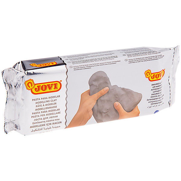 Паста для моделирования отвердевающая 500г JOVI, сераяНаборы полимерной глины<br>Характеристики товара:<br><br>• возраст: от 3 лет;<br>• тип: паста для моделирования;<br>• вес пасты: 500 гр.;<br>• цвет: серый;<br>• упаковка: вакуумный пакет;<br>• размер упаковки: 22х7,5х2,8 см.;<br>• вес: 511 гр.;<br>• страна обладатель бренда: Россия.<br><br>Паста для лепки и моделирования, отвердевающая на воздухе готова к использованию, по свойствам напоминает глину, но работать с ней легче. <br><br>Моделируется руками, при необходимости можно использовать инструменты. <br><br>Пластична, легко лепится, раскатывается, режется, принимает любую форму, не липнет к рукам. <br><br>Без запаха. <br><br>Затвердевает на воздухе, после высыхания становится очень прочной, не трескается при высыхании. <br><br>Готовое изделие можно расписывать красками и декорировать в различных техниках. <br><br>Хранить массу необходимо в герметичной емкости. <br><br>Основной состав: вода, карбонат кальция, целлюлоза, каолин.<br><br>Пасту для моделирования Jovi можно купить в нашем интернет-магазине.<br>Ширина мм: 220; Глубина мм: 75; Высота мм: 28; Вес г: 511; Возраст от месяцев: 36; Возраст до месяцев: 2147483647; Пол: Унисекс; Возраст: Детский; SKU: 7044272;