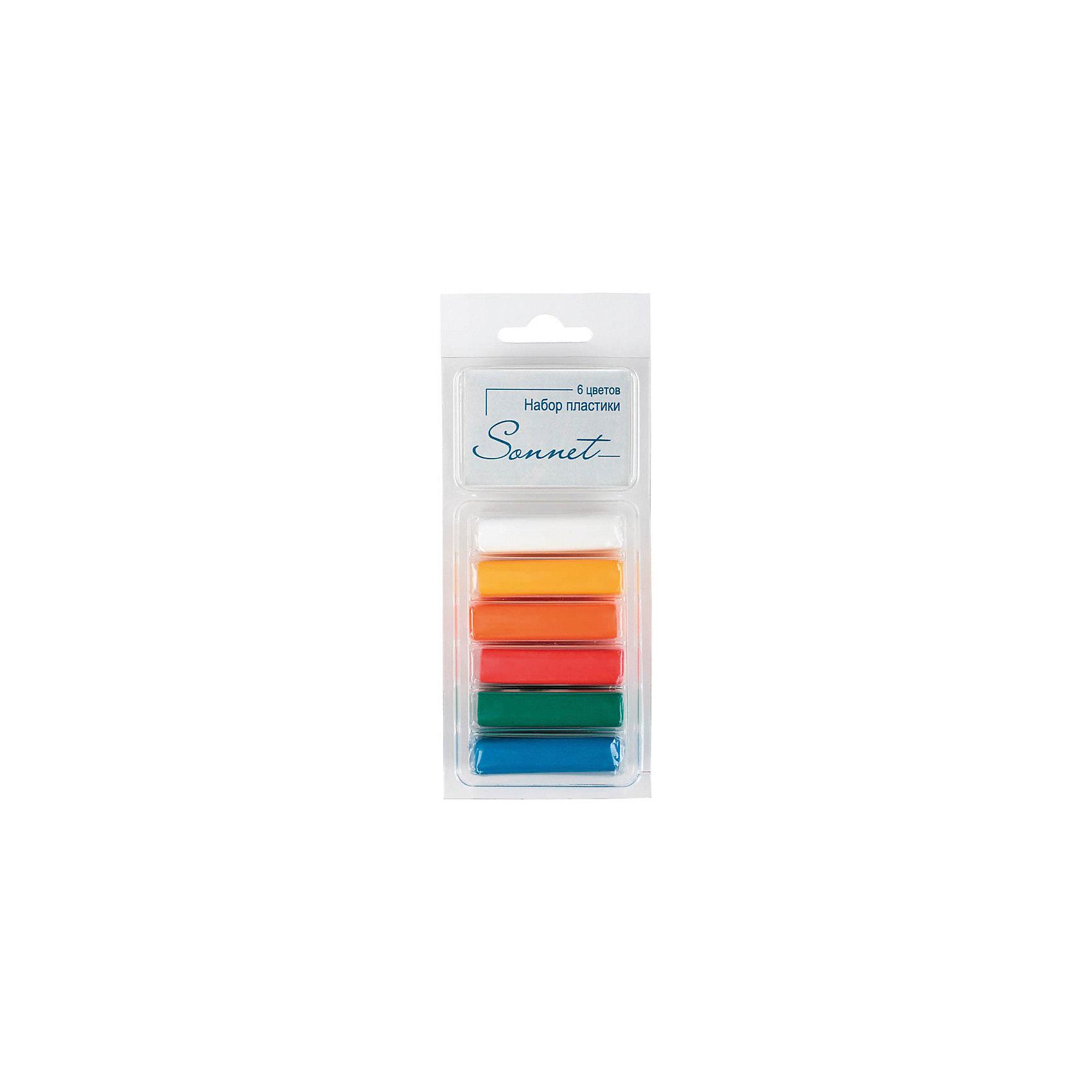 Набор пластики для лепки Основные цвета 6 цветов 120г СонетРисование и лепка<br>Количество цветов: 6 <br>Вес нетто: 120<br>Упаковка ед. товара: картонная коробка<br>Наличие европодвеса: есть<br>С помощью полимерной глины можно создать необычные аксессуары и бижутерию своими руками. Пластика отвердевает при термообработке, хорошо размягчается, не липнет и не пачкает руки. Инструкция: Разомните пластику. Поместите изделие на противень в нагретый до 130 °C духовой шкаф на 3-30 минут (в зависимости от размеров). Дайте изделию остыть, отвердеть. После занятий лепкой руки протереть влажной тканью, затем вымыть их теплой водой с мылом. ВНИМАНИЕ: Обжиг должны проводить только взрослые! Не используйте микроволновую печь! Не превышайте температуру обжига! Предварительно сделайте пробный обжиг!<br><br>Ширина мм: 140<br>Глубина мм: 67<br>Высота мм: 29<br>Вес г: 136<br>Возраст от месяцев: 84<br>Возраст до месяцев: 2147483647<br>Пол: Унисекс<br>Возраст: Детский<br>SKU: 7044275