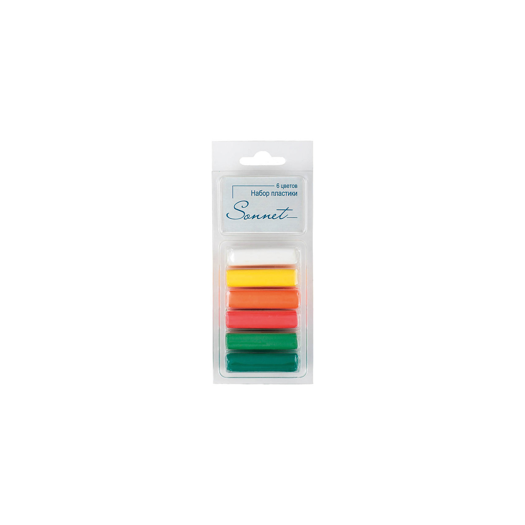 Набор пластики для лепки Фруктовые цвета 6 цветов 120г СонетРисование и лепка<br>Количество цветов: 6 <br>Вес нетто: 120<br>Упаковка ед. товара: картонная коробка<br>Наличие европодвеса: есть<br>С помощью полимерной глины можно создать необычные аксессуары и бижутерию своими руками. Пластика отвердевает при термообработке, хорошо размягчается, не липнет и не пачкает руки. Инструкция: Разомните пластику. Поместите изделие на противень в нагретый до 130 °C духовой шкаф на 3-30 минут (в зависимости от размеров). Дайте изделию остыть, отвердеть. После занятий лепкой руки протереть влажной тканью, затем вымыть их теплой водой с мылом. ВНИМАНИЕ: Обжиг должны проводить только взрослые! Не используйте микроволновую печь! Не превышайте температуру обжига! Предварительно сделайте пробный обжиг!<br><br>Ширина мм: 140<br>Глубина мм: 67<br>Высота мм: 33<br>Вес г: 136<br>Возраст от месяцев: 84<br>Возраст до месяцев: 2147483647<br>Пол: Унисекс<br>Возраст: Детский<br>SKU: 7044276
