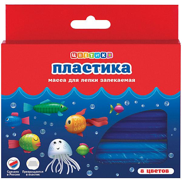 Набор пластики для лепки 8 цветов 160г ЦветикРисование и лепка<br>Характеристики товара:<br><br>• возраст: от 7 лет;<br>• тип: набор пластики для лепки;<br>• количество цветов: 8 шт.;<br>• вес пластики: 160 гр.;<br>• упаковка: картонная коробка;<br>• размер упаковки: 15х9х2 см.;<br>• вес: 119 гр.;<br>• страна обладатель бренда: Россия.<br><br>Пластика «Цветик» предназначена для лепки и моделирования.<br><br>Перед началом работы с пластикой необходимо её размять.<br><br>Изделие следует выложить на противень и прогреть при температуре 130 градусов в духовом шкафу в течение 3-10 минут. <br><br>Необходимо дать изделию остыть и отвердеть. <br><br>Изделия из пластики прекрасно окрашиваются акриловыми красками. <br><br>После занятий лепкой руки протереть влажной тканью, затем вымыть их теплой водой с мылом. <br><br>Набор пластики для лепки «Цветик» можно купить в нашем интернет-магазине.<br>Ширина мм: 150; Глубина мм: 90; Высота мм: 20; Вес г: 119; Возраст от месяцев: 84; Возраст до месяцев: 2147483647; Пол: Унисекс; Возраст: Детский; SKU: 7044280;