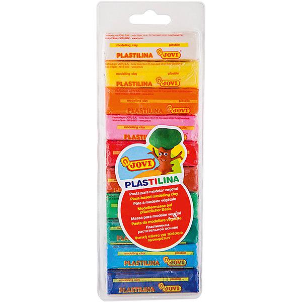 Пластилин 10 цветов 250г JOVIРисование и лепка<br>Количество цветов: 10 <br>Основа: растительная<br>Перламутровый эффект: нет<br>Флуоресцентный эффект: нет<br>Блестки/глиттер: нет<br>Плавающий: нет<br>Упаковка ед. товара: блистер<br>Вес бруска: 25<br>Вес: 250<br>Пол ребенка: универсальные<br>Возраст: старше 2 лет<br>Форма бруска: прямоугольник<br>Легендарный пластилин JOVI на растительной основе идеален для начала обучения лепке и для уроков в школе и творческих студиях. Благодаря усовершенствованной формуле с воском пластилин JOVI безопасен, обладает повышенной пластичностью, хорошо лепится, прекрасно держит форму, не деформируется, легко извлекается из формочки, не крошится, не высыхает, цвета прекрасно смешиваются между собой, слепленные фигурки не опадают со временем. Используется для техники Рисование пластилином и пластилиновой мультипликации. Не пачкает руки, снимается с любой поверхности без усилий, не оставляя пятен. Гипоаллергенен, без консервантов, не содержит глютен. Набор пластилина на растительной основе из 10 цветов (белый, желтый, оранжевый, розовый, красный, малиновый, голубой, синий, зеленый, темно-зеленый) по 25 грамм в плотном блистере. Страна производства Испания.<br>Ширина мм: 235; Глубина мм: 85; Высота мм: 17; Вес г: 276; Возраст от месяцев: 24; Возраст до месяцев: 2147483647; Пол: Унисекс; Возраст: Детский; SKU: 7044288;