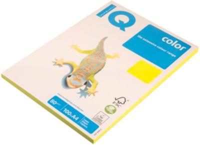 Бумага Iq Color Neon А4 100 Листов Iq, Жёлтый Неон