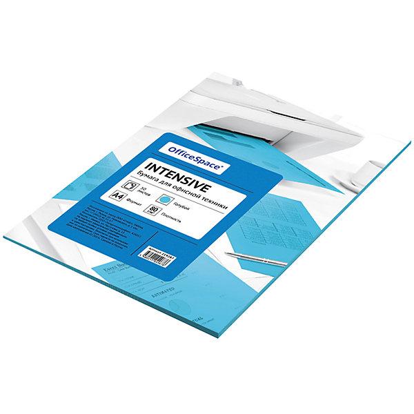 Бумага цветная intensive А4 50 листов OfficeSpace, голубойБумажная продукция<br>Характеристики товара:<br><br>• тип: цветная бумага;<br>• цвет: голубой;<br>• плотносить бумаги: 80 г.;<br>• формат бумаги: А4;<br>• количество листов: 50 шт;<br>• упаковка: т/у пленка с картонной подложкой;<br>• размер упаковки: 29,7х21х0,5 см.;<br>• вес: 309 гр.;<br>• страна обладатель бренда: Россия.<br><br>Набор цветной бумаги предназначен как для творчества, хобби, моделирования, оформления, так и идеально подходит для печати на любой офисной технике.<br><br>Идеально подходит для документов, презентаций, рекламных материалов, открыток. <br><br>Цветную бумагу можно купить в нашем интернет-магазине.<br>Ширина мм: 297; Глубина мм: 210; Высота мм: 5; Вес г: 309; Возраст от месяцев: 60; Возраст до месяцев: 2147483647; Пол: Унисекс; Возраст: Детский; SKU: 7044310;