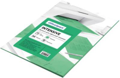 Бумага цветная intensive А4 50 листов OfficeSpace, зеленый