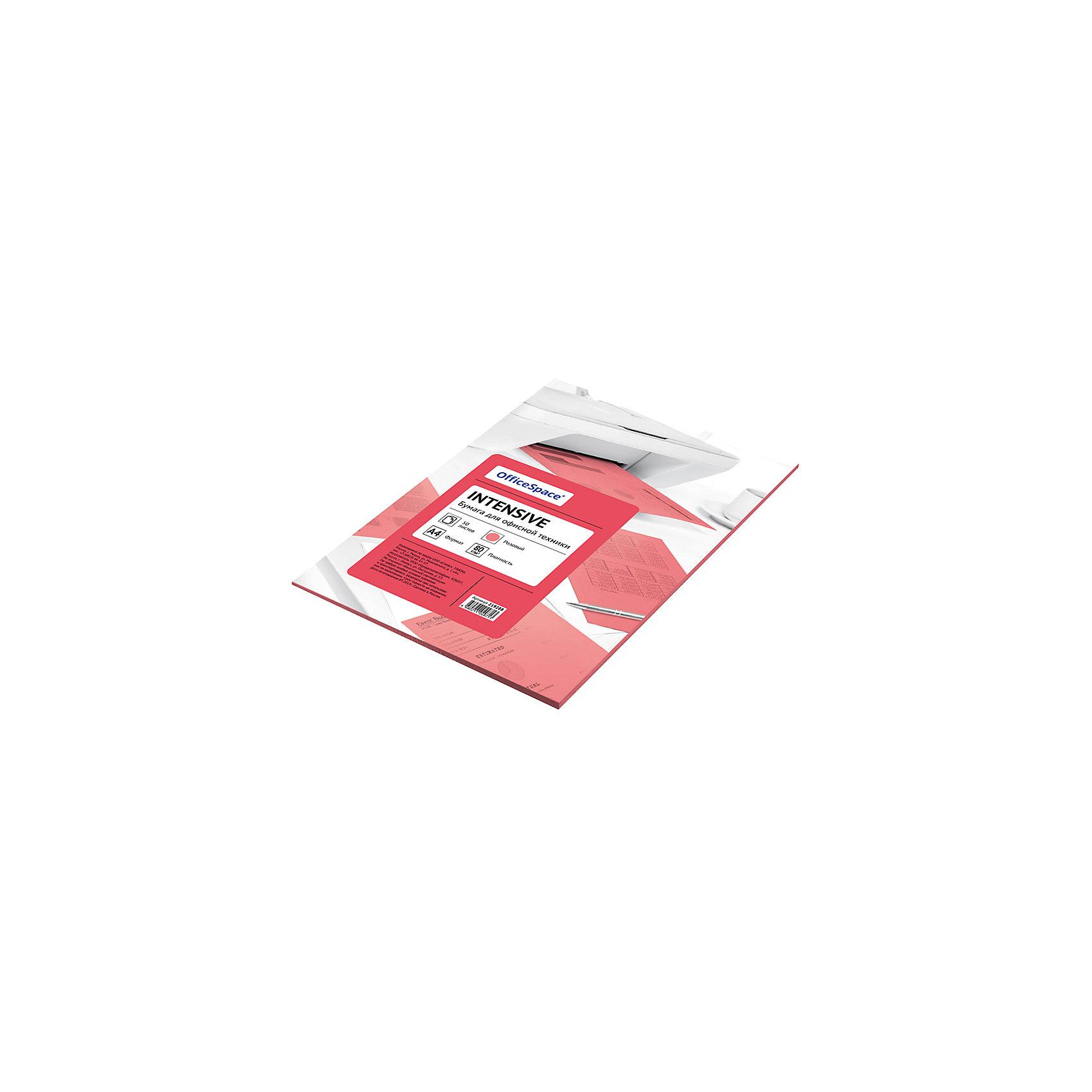 Бумага цветная intensive А4 50 листов OfficeSpace, розовыйБумажная продукция<br>Плотность бумаги: 80 <br>Формат : A4<br>Количество листов: 50<br>Цвет: розовый<br>Насыщенность цвета: интенсивный<br>Толщина: 103<br>Непрозрачность: 92<br>Количество цветов в пачке: 1<br>Количество пачек в коробке: 20<br>Цветная бумага формата А4, плотность 80 г/м2, цвет - розовый интенсив, 50 листов, упаковка - т/у пленка с картонной подложкой.<br><br>Ширина мм: 300<br>Глубина мм: 210<br>Высота мм: 6<br>Вес г: 300<br>Возраст от месяцев: 60<br>Возраст до месяцев: 2147483647<br>Пол: Унисекс<br>Возраст: Детский<br>SKU: 7044314