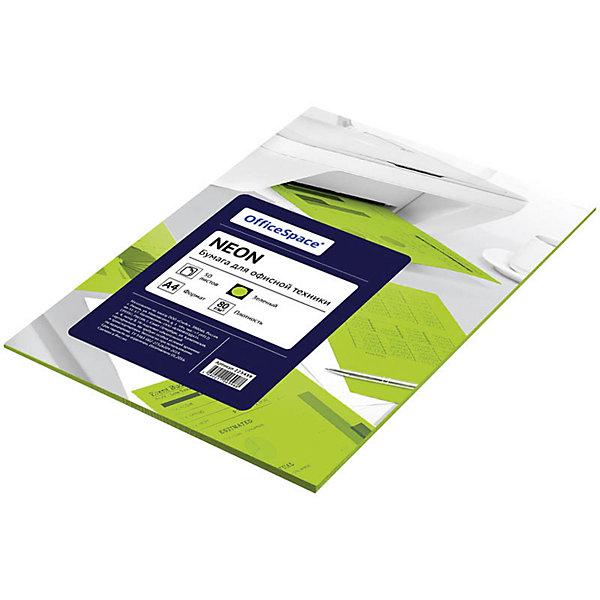 Бумага цветная neon А4 50 листов OfficeSpace, зеленыйБумажная продукция<br>Характеристики товара:<br><br>• тип: цветная бумага;<br>• цвет: зеленый-неоновый;<br>• плотносить бумаги: 80 г.;<br>• формат бумаги: А4;<br>• количество листов: 50 шт;<br>• упаковка: т/у пленка с картонной подложкой;<br>• размер упаковки: 30х21х0,8 см.;<br>• вес: 240 гр.;<br>• страна обладатель бренда: Россия.<br><br>Цветная бумага для офиса зеленого неонового цвета предназначена для печати на всех видах оргтехники и ризографах.<br><br>Идеально подходит для документов, презентаций, рекламных материалов, открыток.<br><br>Цветную бумагу можно купить в нашем интернет-магазине.<br>Ширина мм: 300; Глубина мм: 210; Высота мм: 8; Вес г: 240; Возраст от месяцев: 60; Возраст до месяцев: 2147483647; Пол: Унисекс; Возраст: Детский; SKU: 7044315;