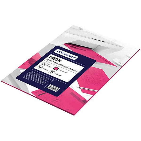 Бумага цветная neon А4 50 листов OfficeSpace, малиновыйБумажная продукция<br>Плотность бумаги: 80 <br>Формат : A4<br>Количество листов: 50<br>Цвет: малиновый<br>Насыщенность цвета: неоновый<br>Толщина: 103<br>Непрозрачность: 92<br>Количество цветов в пачке: 1<br>Количество пачек в коробке: 20<br>Цветная бумага для офиса малинового цвета предназначена для печати на всех видах оргтехники и ризографах. Одна пачка содержит 50 листов формата А4, в прозрачной упаковке. Идеально подходит для документов, презентаций, рекламных материалов, открыток.<br>Ширина мм: 300; Глубина мм: 210; Высота мм: 8; Вес г: 240; Возраст от месяцев: 60; Возраст до месяцев: 2147483647; Пол: Унисекс; Возраст: Детский; SKU: 7044316;