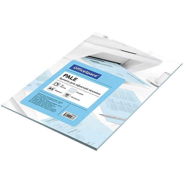 Бумага цветная pale А4 50 листов OfficeSpace, голубойБумажная продукция<br>Характеристики товара:<br><br>• тип: цветная бумага;<br>• цвет: голубой;<br>• насыщенность цвета: пастельный;<br>• плотносить бумаги: 80 г.;<br>• формат бумаги: А4;<br>• количество листов: 50 шт;<br>• упаковка: т/у пленка с картонной подложкой;<br>• размер упаковки: 29,8х20,8х0,5 см.;<br>• вес: 285 гр.;<br>• страна обладатель бренда: Россия.<br><br>Цветная бумага для офиса зеленого неонового цвета предназначена для печати на всех видах оргтехники и ризографах.<br><br>Идеально подходит для документов, презентаций, рекламных материалов, открыток.<br><br>Цветную бумагу Рale можно купить в нашем интернет-магазине.<br><br>Ширина мм: 298<br>Глубина мм: 208<br>Высота мм: 5<br>Вес г: 285<br>Возраст от месяцев: 60<br>Возраст до месяцев: 2147483647<br>Пол: Унисекс<br>Возраст: Детский<br>SKU: 7044320