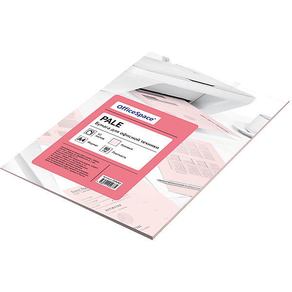 Бумага цветная pale А4 50 листов OfficeSpace, розовыйБумажная продукция<br>Плотность бумаги: 80 <br>Формат : A4<br>Количество листов: 50<br>Цвет: розовый<br>Насыщенность цвета: пастельный<br>Толщина: 103<br>Непрозрачность: 92<br>Количество цветов в пачке: 1<br>Количество пачек в коробке: 20<br>Цветная бумага формата А4, плотность 80 г/м2, цвет - розовый пастель, 50 листов, упаковка - т/у пленка с картонной подложкой.<br><br>Ширина мм: 298<br>Глубина мм: 208<br>Высота мм: 5<br>Вес г: 285<br>Возраст от месяцев: 60<br>Возраст до месяцев: 2147483647<br>Пол: Унисекс<br>Возраст: Детский<br>SKU: 7044323