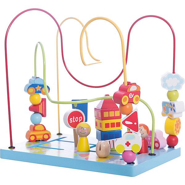 Сортер-лабиринт Шоссе Classic WorldДеревянные игрушки<br>Характеристики:<br><br>• возраст: от 1 года<br>• размер сортера: 27х27х25 см.<br>• материал: дерево, МДФ, сталь<br>• размер упаковки: 28,5х28,5х21 см.<br>• вес: 1,2 кг.<br><br>Сортер- лабиринт «Цветочные горки» поможет познакомить малыша с фигурами и формами, а также развить его пространственное мышление.<br><br>Нижняя часть игрушки выполнена в виде полянки. На основании вырезан лабиринт. По цветным проволокам, изогнутым под различными углами, можно передвигать различные яркие приятные на ощупь фигурки. Во время игры ребенок учится анализировать: как сделать так, чтобы фигурка с одного конца лабиринта переместилась на другой, а также, чтобы нанизанные на проволоку детали не столкнулись между собой.<br><br>Игрушка изготовлена из высококачественных материалов.<br><br>Сортер-лабиринт «Цветочные горки Classic World можно купить в нашем интернет-магазине.<br>Ширина мм: 285; Глубина мм: 285; Высота мм: 210; Вес г: 1200; Возраст от месяцев: 12; Возраст до месяцев: 2147483647; Пол: Унисекс; Возраст: Детский; SKU: 7044534;
