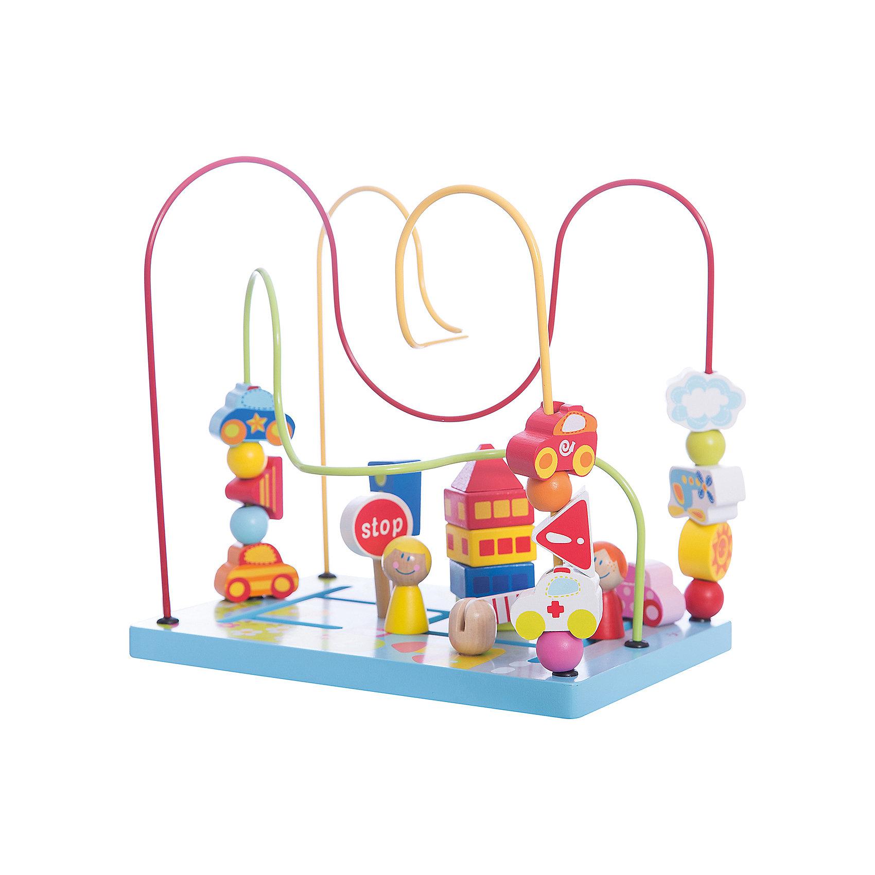 Сортер-лабиринт Шоссе Classic WorldДеревянные игрушки<br>Характеристики:<br><br>• возраст: от 1 года<br>• размер сортера: 27х27х25 см.<br>• материал: дерево, МДФ, сталь<br>• размер упаковки: 28,5х28,5х21 см.<br>• вес: 1,2 кг.<br><br>Сортер- лабиринт «Цветочные горки» поможет познакомить малыша с фигурами и формами, а также развить его пространственное мышление.<br><br>Нижняя часть игрушки выполнена в виде полянки. На основании вырезан лабиринт. По цветным проволокам, изогнутым под различными углами, можно передвигать различные яркие приятные на ощупь фигурки. Во время игры ребенок учится анализировать: как сделать так, чтобы фигурка с одного конца лабиринта переместилась на другой, а также, чтобы нанизанные на проволоку детали не столкнулись между собой.<br><br>Игрушка изготовлена из высококачественных материалов.<br><br>Сортер-лабиринт «Цветочные горки Classic World можно купить в нашем интернет-магазине.<br><br>Ширина мм: 285<br>Глубина мм: 285<br>Высота мм: 210<br>Вес г: 1200<br>Возраст от месяцев: 12<br>Возраст до месяцев: 2147483647<br>Пол: Унисекс<br>Возраст: Детский<br>SKU: 7044534