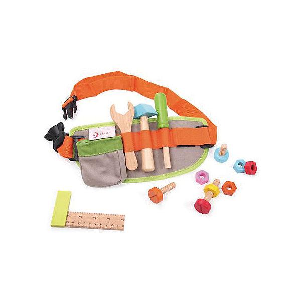 Набор инструментов из дерева Classic World Пояс столяраНаборы инструментов<br>Характеристики:<br><br>• возраст: от 3 лет<br>• в наборе 13 предметов: тканевый пояс, молоток, отвертка, гаечный ключ, уровень, 4 гайки, 4 шурупа<br>• материал: дерево, текстиль<br>• упаковка: картонная коробка<br>• размер упаковки: 25х4х32 см.<br>• вес: 400 гр.<br><br>Игровой набор «Пояс столяра» непременно порадует каждого мальчишку. В набор входят все необходимые для ремонта инструменты.<br><br>Стильный тканевый пояс с удобной системой регулирования размера и вместительным кармашком надежно крепится на талии ребенка. На поясе располагаются инструменты: молоток, отвертка, гаечный ключ, уровень, гайки и болты. Малыш сможет играть в различные ролевые игры, закручивать гайки и шурупы, а также выполнять различные ремонтные работы.<br><br>Набор отлично развивает мелкую моторику, логику, визуальные и сенсорные навыки.<br><br>Все инструменты в наборе выполнены из высококачественного дерева и вручную окрашены яркими безопасными красками. Набор удобно брать с собой на прогулки и в дорогу, он не занимает много места.<br><br>Игровой набор совместим с такими хитами как «Набор столяра» и чемоданом с инструментами «Маленький столяр» от Classic World.<br><br>Набор инструментов из дерева Classic World Пояс столяра можно купить в нашем интернет-магазине.<br>Ширина мм: 250; Глубина мм: 40; Высота мм: 320; Вес г: 400; Возраст от месяцев: 36; Возраст до месяцев: 2147483647; Пол: Мужской; Возраст: Детский; SKU: 7044545;