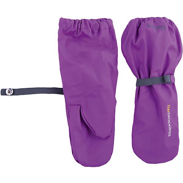 Варежки PILEGLOVE DIDRIKSONS для девочкиПерчатки, варежки<br>Характеристики товара:<br><br>• цвет: фиолетовый<br>• состав ткани: 100% полиуретан<br>• подкладка: 100% полиэстер (флис)<br>• утеплитель: нет<br>• сезон: демисезон<br>• температурный режим: от 0 до +5<br>• влагонепроницаемость: 8000 мм <br>• пропаянные швы<br>• непродуваемые<br>• застежка: резинка<br>• страна бренда: Швеция<br>• страна изготовитель: Китай<br><br>Яркие демисезонные варежки плотно держатся на руке благодаря удобному фиксатору. Эти непромокаемые варежки для ребенка отличаются модным дизайном. Простые в уходе варежки сделаны из легкого износостойкого материала. Плотный материал таких детских варежек обеспечит защиту от холода и промокания. <br><br>Варежки для девочки Pileglove Didriksons (Дидриксонс) можно купить в нашем интернет-магазине.<br>Ширина мм: 162; Глубина мм: 171; Высота мм: 55; Вес г: 119; Цвет: фиолетовый; Возраст от месяцев: 8; Возраст до месяцев: 24; Пол: Женский; Возраст: Детский; Размер: 0,6,4,2; SKU: 7044801;
