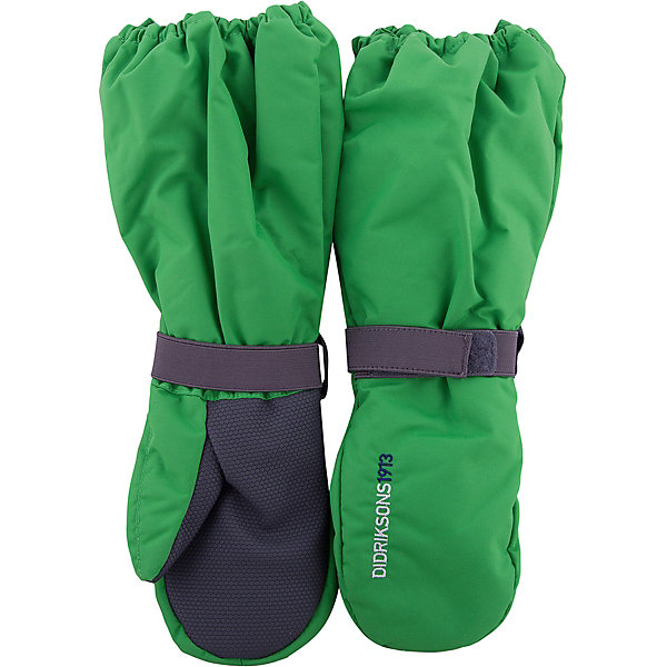 Варежки BIGGLES DIDRIKSONSПерчатки, варежки<br>Характеристики товара:<br><br>• цвет: зеленый<br>• состав ткани: 100% полиамид<br>• подкладка: 100% полиэстер (флис)<br>• утеплитель: 100% полиэстер<br>• сезон: зима<br>• мембранная<br>• температурный режим: от -20 до 0<br>• утеплитель: 60 г/м<br>• влагонепроницаемость: 1000 мм <br>• непродуваемые<br>• застежка: резинка<br>• страна бренда: Швеция<br>• страна изготовитель: Китай<br><br><br>Детские теплые варежки плотно держатся на руке благодаря удобной резинке. Такие мембранные варежки для ребенка отличаются модным дизайном. Простые в уходе варежки сделаны из легкого износостойкого материала. Непромокаемый плотный материал этих детских варежек обеспечит защиту от холода и влаги. <br><br>Варежки Biggles Didriksons (Дидриксонс) можно купить в нашем интернет-магазине.<br>Ширина мм: 162; Глубина мм: 171; Высота мм: 55; Вес г: 119; Цвет: зеленый; Возраст от месяцев: 12; Возраст до месяцев: 24; Пол: Унисекс; Возраст: Детский; Размер: 0/2,2/4,4/6,6/8,8/10; SKU: 7045005;