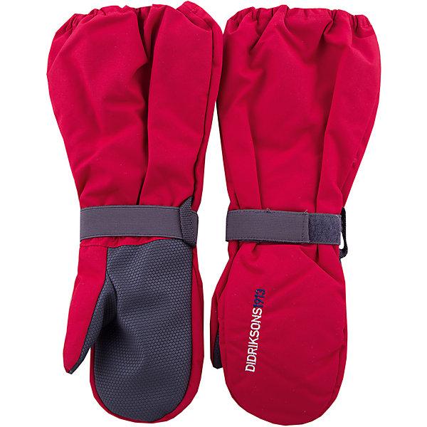 Варежки BIGGLES DIDRIKSONS для мальчикаПерчатки, варежки<br>Характеристики товара:<br><br>• цвет: красный<br>• состав ткани: 100% полиамид<br>• подкладка: 100% полиэстер (флис)<br>• утеплитель: 100% полиэстер<br>• сезон: зима<br>• мембранная<br>• температурный режим: от -20 до 0<br>• утеплитель: 60 г/м<br>• влагонепроницаемость: 1000 мм <br>• непродуваемые<br>• застежка: резинка<br>• страна бренда: Швеция<br>• страна изготовитель: Китай<br><br>Теплые мембранные варежки для детей сделаны из легкого износостойкого материала. Плотный материал таких детских варежек обеспечит защиту от холода и промокания. Прочные теплые варежки плотно держатся на руке благодаря удобной резинке. Эти непромокаемые варежки для ребенка отличаются модным дизайном. <br><br>Варежки для мальчика Biggles Didriksons (Дидриксонс) можно купить в нашем интернет-магазине.<br><br>Ширина мм: 162<br>Глубина мм: 171<br>Высота мм: 55<br>Вес г: 119<br>Цвет: красный<br>Возраст от месяцев: 12<br>Возраст до месяцев: 24<br>Пол: Мужской<br>Возраст: Детский<br>Размер: 0/2,8/10,6/8,4/6,2/4<br>SKU: 7045015