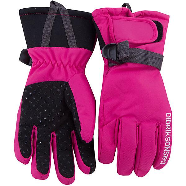 Перчатки FIVE DIDRIKSONS для девочкиПерчатки, варежки<br>Характеристики товара:<br><br>• цвет: фуксия<br>• состав ткани: 100% полиамид<br>• подкладка: 100% полиэстер (флис)<br>• утеплитель: 100% полиэстер<br>• сезон: зима<br>• мембранная<br>• температурный режим: от -20 до 0<br>• утеплитель: 60 г/м<br>• влагонепроницаемость: 1000 мм <br>• непродуваемые<br>• застежка: липучка<br>• страна бренда: Швеция<br>• страна изготовитель: Китай<br><br>Яркие детские теплые перчатки плотно держатся на руке благодаря удобной застежке. Такие мембранные перчатки для ребенка отличаются модным дизайном. Простые в уходе перчатки сделаны из легкого износостойкого материала. Непромокаемый плотный материал этих детских перчаток обеспечит защиту от холода и влаги. <br><br>Перчатки Five для девочки Five Didriksons (Дидриксонс) можно купить в нашем интернет-магазине.<br><br>Ширина мм: 162<br>Глубина мм: 171<br>Высота мм: 55<br>Вес г: 119<br>Цвет: розовый<br>Возраст от месяцев: 120<br>Возраст до месяцев: 132<br>Пол: Женский<br>Возраст: Детский<br>Размер: 5,7,6<br>SKU: 7045033