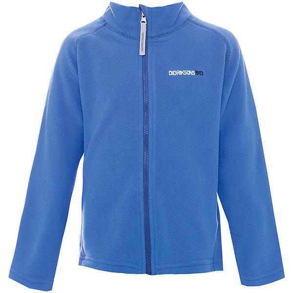 Куртка MONTE  DIDRIKSONS1913 для мальчикаФлис и термобелье<br>Характеристики товара:<br><br>• цвет: синий<br>• состав ткани: 100% полиэстер (флис)<br>• утеплитель: нет<br>• сезон: демисезон<br>• теплоизоляционная<br>• застежка: молния<br>• страна бренда: Швеция<br>• страна изготовитель: Китай<br><br>Мягкая детская куртка может надеваться под верхнюю одежду для дополнительного утепления. Флисовая детская куртка легко надевается благодаря молнии. Такая куртка для ребенка отличается комфортной посадкой. Детская куртка обладает хорошими теплоизоляционными свойствами. <br><br>Куртку для мальчика Monte Didriksons (Дидриксонс) можно купить в нашем интернет-магазине.<br>Ширина мм: 356; Глубина мм: 10; Высота мм: 245; Вес г: 519; Цвет: голубой; Возраст от месяцев: 12; Возраст до месяцев: 15; Пол: Мужской; Возраст: Детский; Размер: 80,140,130,120,110,100,90; SKU: 7045037;