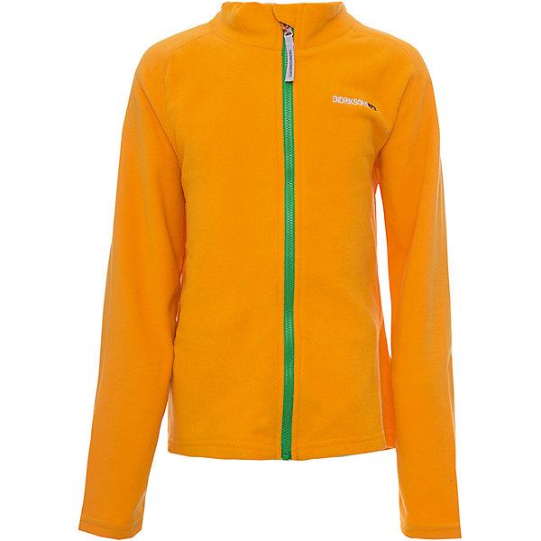 Куртка MONTE  DIDRIKSONSФлис и термобелье<br>Характеристики товара:<br><br>• цвет: желтый<br>• состав ткани: 100% полиэстер (флис)<br>• утеплитель: нет<br>• сезон: демисезон<br>• теплоизоляционная<br>• застежка: молния<br>• страна бренда: Швеция<br>• страна изготовитель: Китай<br><br>Теплая куртка для ребенка отличается комфортной посадкой. Детская куртка обладает хорошими теплоизоляционными свойствами. Мягкая детская куртка может надеваться под верхнюю одежду для дополнительного утепления. Флисовая детская куртка легко надевается благодаря удобной застежке. <br><br>Куртку Monte Didriksons (Дидриксонс) можно купить в нашем интернет-магазине.<br>Ширина мм: 356; Глубина мм: 10; Высота мм: 245; Вес г: 519; Цвет: оранжевый; Возраст от месяцев: 18; Возраст до месяцев: 24; Пол: Унисекс; Возраст: Детский; Размер: 90,110,100,80,140,130,120; SKU: 7045045;